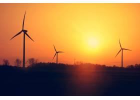 风车和日落_1254347