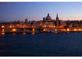 马耳他瓦莱塔夜景_1186389