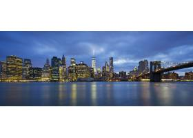 黄昏时分纽约市曼哈顿中城的全景_10471156