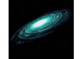 黑暗星空中美丽多彩的星系_9990520