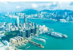 美丽的建筑建筑香港城市天际线的外部城市景_3531240