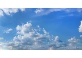 美丽的蓝天白云缭绕_5867051