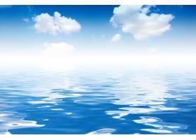 海水中反射的云彩_947172