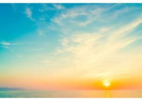 海滩上的日落_975698