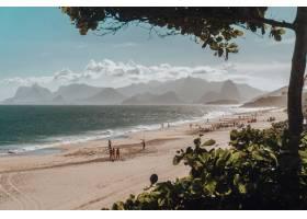 海滩和海景的美丽景色_8857547