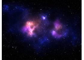 带有彩色星云的太阳系背景的3D渲染_10167213