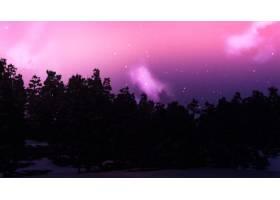 星空映衬下的3D树木景观_2970322