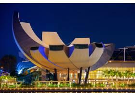新加坡夜景中的新加坡城市风光_11769059