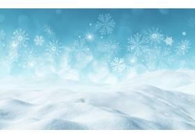 带雪的圣诞节背景_936310