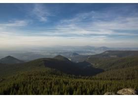 山上有雾的夏日早晨喀尔巴西亚乌克兰_11168403