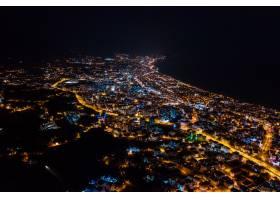 夜景夜景照亮了土耳其的城市_8566895