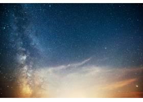 充满活力的夜空有星星星云和星系_10181146