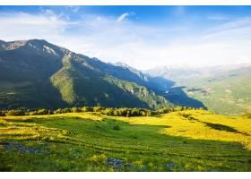 从山上经过的风景阿拉贡_1238503