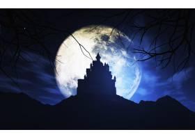 万圣节之夜的满月_951021
