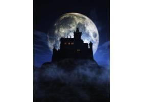万圣节的背景是一座诡异的城堡_935779