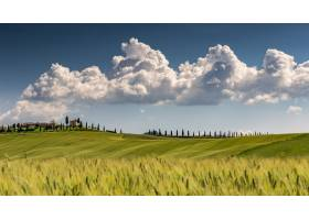 Val dOrcia托斯卡纳风景照意大利多云_9970647
