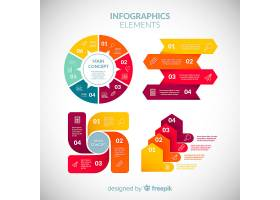 平面设计的五颜六色的信息图元素集合_2881554