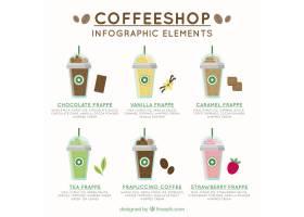 咖啡厅信息图形元素_839976