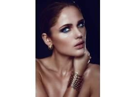 高级时尚造型迷人的特写肖像美丽性感时尚_7250529