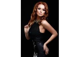 高级时尚造型美丽性感的红发时尚高加索年_6492631