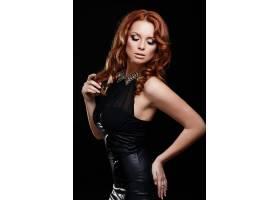 高级时尚造型美丽性感的红发时尚高加索年_6492633
