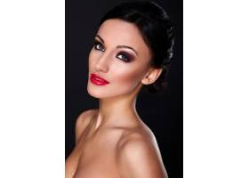 高级时尚造型美丽性感的高加索年轻女性模_7167378