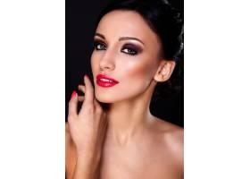 高级时尚造型美丽性感的高加索年轻女性模_7183968