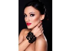高级时尚造型美丽性感的高加索年轻女性模_7183976