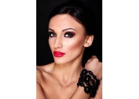 高级时尚造型美丽性感的高加索年轻女性模_7199733