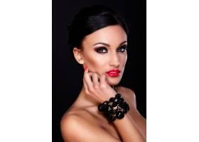 高级时尚造型美丽性感的高加索年轻女性模_7199744