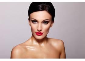 高级时尚造型美丽性感的高加索年轻女性模_7247976
