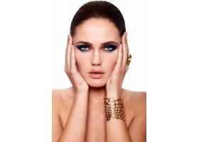 高级时尚造型迷人的特写照片美丽性感的高_7250516