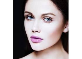 高级时尚造型迷人的特写美人肖像美丽的高_7200531