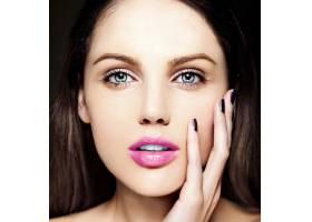 高级时尚造型迷人的特写美人肖像美丽的高_7201012