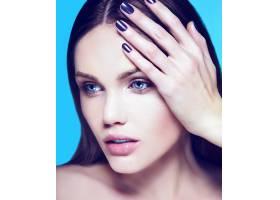 高级时尚造型迷人的特写美女肖像美丽性_7199923