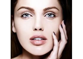 高级时尚造型迷人的特写美女肖像美丽的_7200472