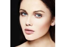 高级时尚造型迷人的特写美女肖像美丽的_7200529