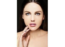 高级时尚造型迷人的特写美女肖像美丽的_7200540