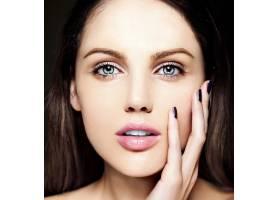 高级时尚造型迷人的特写美女肖像美丽的_7201009