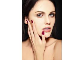 高级时尚造型迷人的特写美女肖像美丽的_7201028