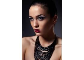 高级时尚造型迷人的特写肖像美丽性感_6560545