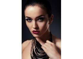 高级时尚造型迷人的特写肖像美丽性感_6560547