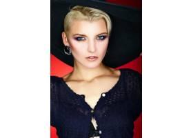 高级时尚造型迷人的特写肖像美丽性感_7091023