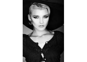 高级时尚造型迷人的特写肖像美丽性感_7091024