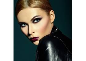 高级时尚造型迷人的特写肖像美丽性感时_6883923