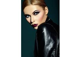 高级时尚造型迷人的特写肖像美丽性感时_6883924