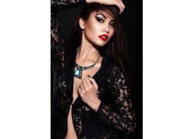 高级时尚造型迷人的特写肖像美丽性感时尚_7167388