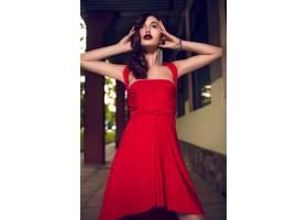 高级时尚造型迷人的特写肖像美丽性感时髦_7248726
