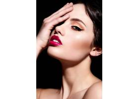高级时尚造型迷人的特写肖像美丽性感的_6492715
