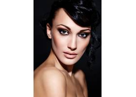 靓丽性感高加索年轻女模浓妆艳抹魅力特写_6765270
